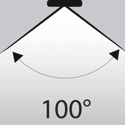 Lampadina LED GU10 riflettore bianco tenue 6W = 450LM (equiv 50W) 100° LEXMAN