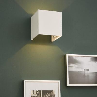 Applique design Kubbo bianco, in alluminio,  D. 10.0 cm 10.0x10.0 cm, INSPIRE
