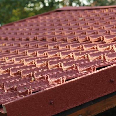 Lastre finto coppo/tegola IKO ENERTHERM Easy Tuile in acciaio 86 x 114 cm, Sp 1.75 mm rosso