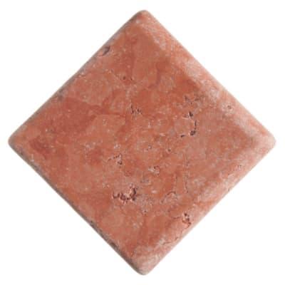Listello Marmo L 13 x H 13 cm rosso