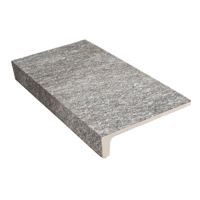 Gradino Serizzo H 15 x L 30 cm grigio / argento