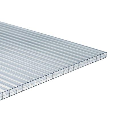Lastra di policarbonato alveolare ONDULINE Onduclair PCMW in policarbonato cellulare H 98 x L 300 cm, Sp 10 mm