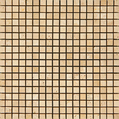 Mosaico Travertino Chiaro H 30 x L 30 cm beige