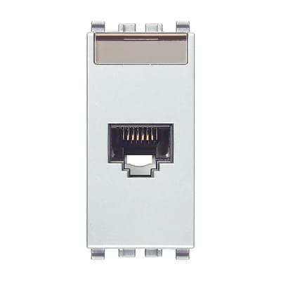Connettore rj45 VIMAR Eikon grigio