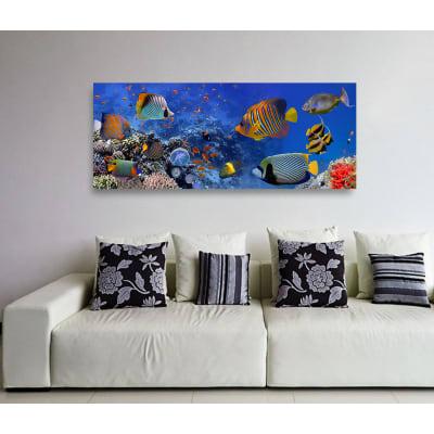 Quadro in vetro acquarium 125x50 cm prezzi e offerte for Quadri moderni leroy merlin