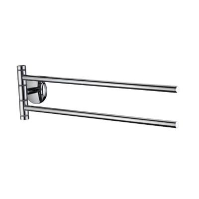 Porta salviette con snodo a muro 2 barre Suite cromo lucido L 40.5 cm