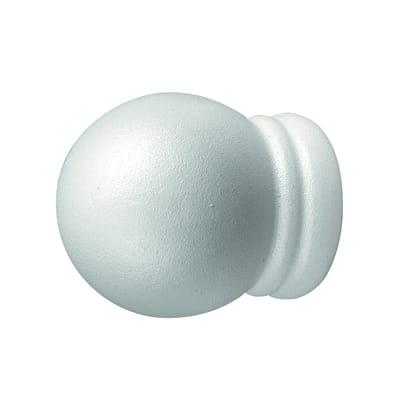 Finale per bastone Camaleonte sfera Ø20mm bianco verniciato Set di 2 pezzi
