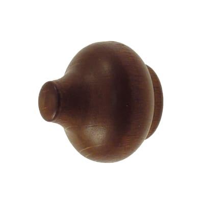 Finale per bastone Zip pomolo in legno Ø11mm ciliegio verniciato Set di 2 pezzi