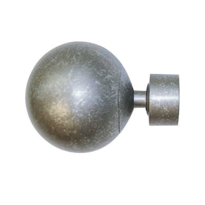 Finale per bastone Ø20mm Kama sfera in acciaio grigio anticato INSPIRE Set di 2 pezzi