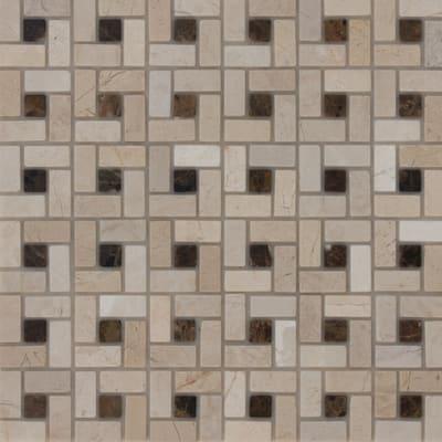 Leroy Merlin Mosaico Decorativo.Mosaico Nido Pietracrema H 30 5 X L 30 5 Cm Bianco Beige