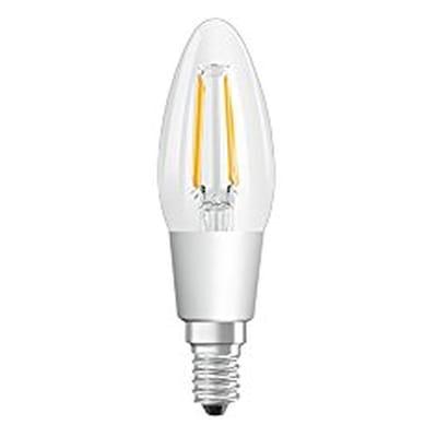 Lampadina LED, E14, Oliva, Trasparente, Luce calda, 4.5W=470LM (equiv 40 W), 300° , OSRAM