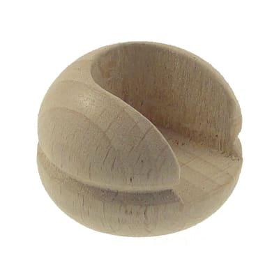 Supporto rosetta Ø11mm Zip in legno rovere verniciato 1.8cm, 2 pz