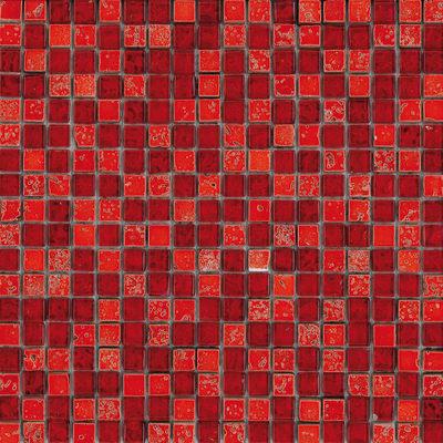 Mosaico Crystal H 30 x L 30 cm rosso