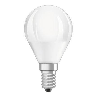 Lampadina E14 sferico bianco 5W = 470LM (equiv 40W) 200° OSRAM