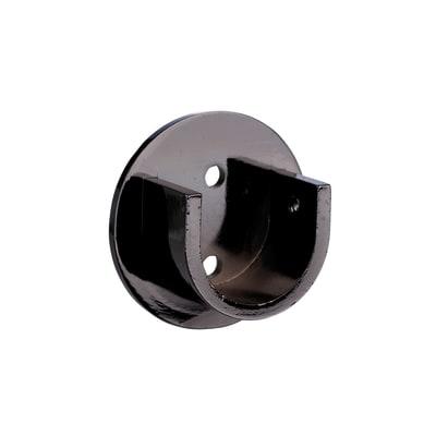 Supporto singolo aperto Ø28mm Loira in acciaio nero lucido0.5 cm, 2 pezzi