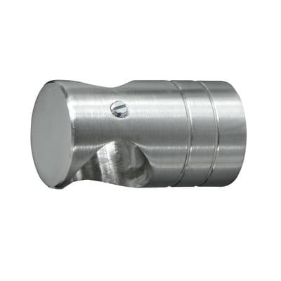 Supporto singolo aperto Ø20mm Time in acciaio acciaio satinato4.5 cm, 2 pezzi