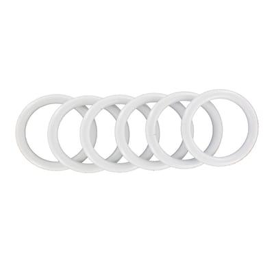 Anello Ø25mm in acciaio bianco satinato , 6 pezzi