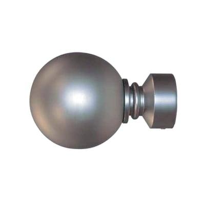 Finale per bastone Ø28mm Ecletic sfera in metallo cromo