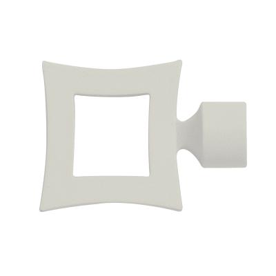 Finale per bastone Ø25mm Fade quadrato in metallo laccato