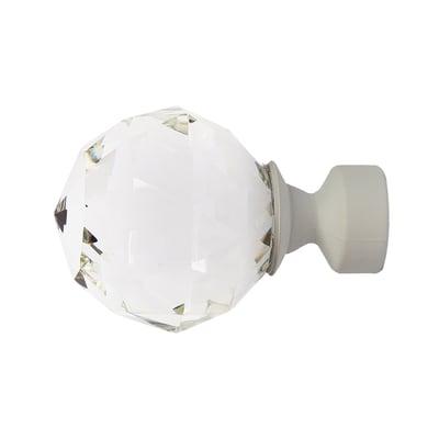 Finale per bastone Ø25mm Fade sfera in metallo laccato