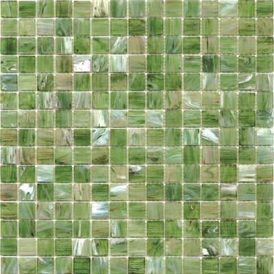 Mosaico Mix spring H 32.7 x L 32.7 cm verde