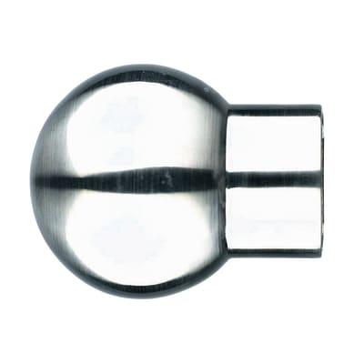 Finale per bastone Ø20mm Nilo sfera in alluminio argento e grigio spazzolato INSPIRE Set di 2 pezzi