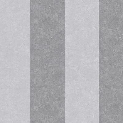 Carta da parati Damas Riga grigio e argento