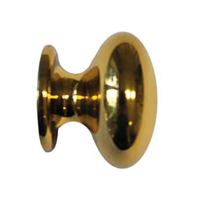 Finale per bastone Volga sfera Ø20mm ottone lucido