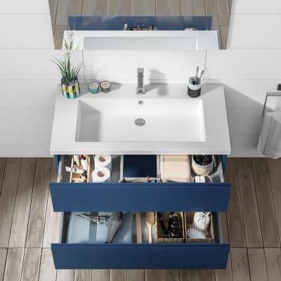 Mobile bagno Gola blu L 95 cm