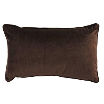 Cuscino Velluto marrone 50x30 cm