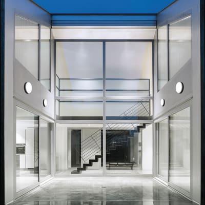 Plafoniera Selene LED integrato in alluminio, bianco, 30W 2800LM IP54 VIVIDA
