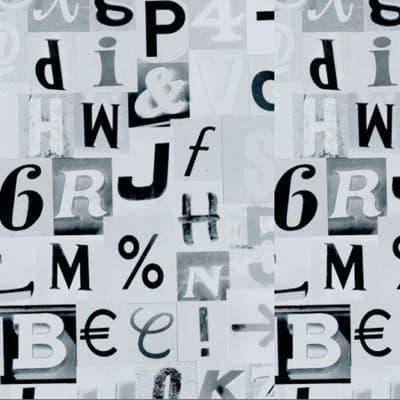 Pellicola elettrostatica Letters x1.5 m
