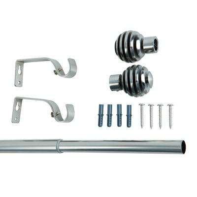 Kit bastone per tenda estensibile Estensibile in metallo Ø 19 mm argento INSPIRE