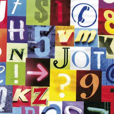 Pellicola elettrostatica Letters multicolore 0.45x2 m