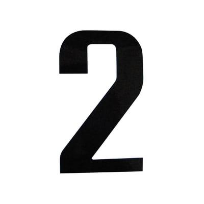 Numero 2 adesivo, 7.5 x 3.5 cm