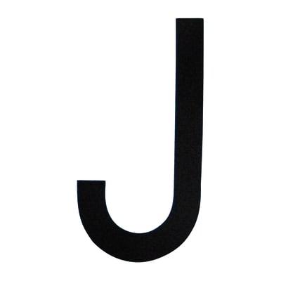 Lettera J adesivo, 5 x 8 cm
