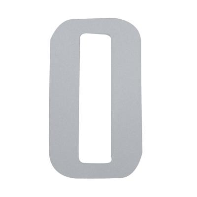 Numero 0 adesivo, 7.5 x 5 cm