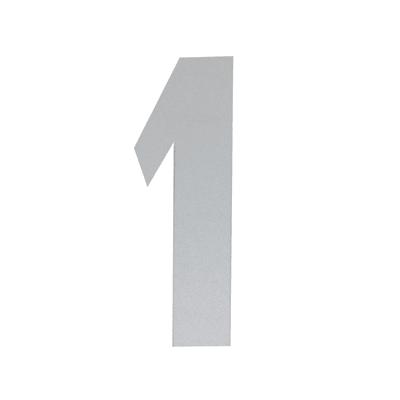 Numero 1 adesivo, 7.5 x 5 cm