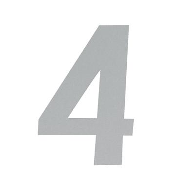 Numero 4 adesivo, 15 x 10 cm