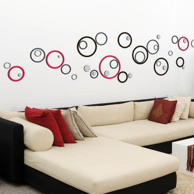 Sticker Circles 47x70 cm