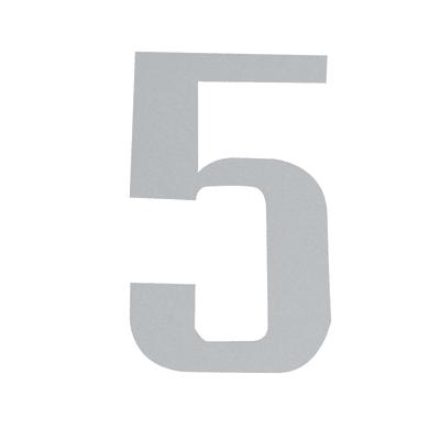 Numero 5 adesivo, 3 x 2 cm