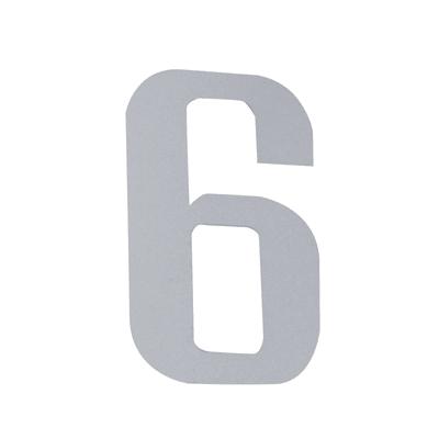 Numero 6 adesivo, 5 x 3.5 cm
