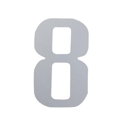 Numero 8 adesivo, 5 x 3.5 cm