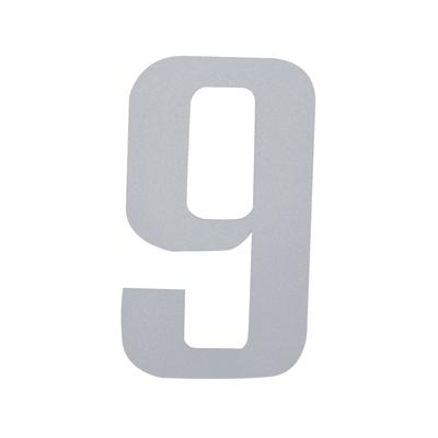 Numero 9 adesivo, 7.5 x 5 cm