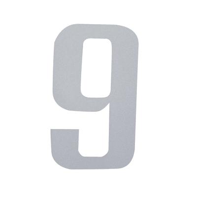 Numero 9 adesivo, 3 x 2 cm