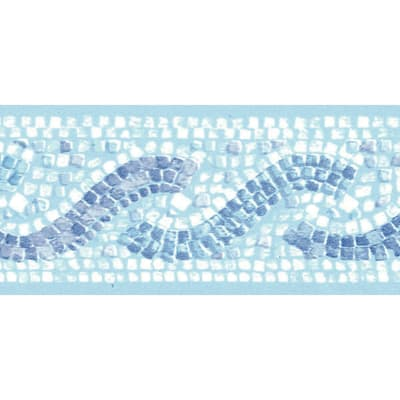 Bordo Mosaico blu 5.3 cm x 5 m