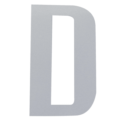 Lettera D adesivo, 10 x 6 cm