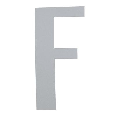 Lettera F adesivo, 15 x 10 cm