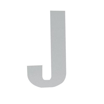 Lettera J adesivo, 15 x 10 cm