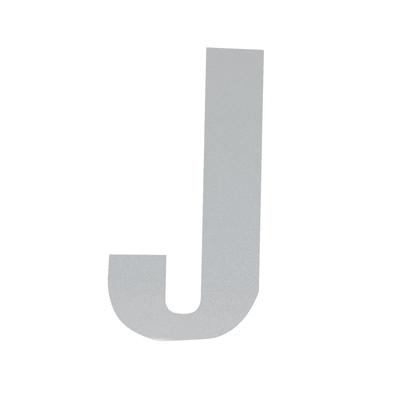 Lettera J adesivo, 7.5 x 5 cm